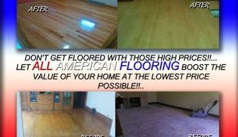 All American flooring. RENEW YOUR HARDWOOD FLOORS!