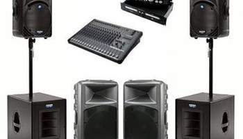 DJ Set-Up For Rent: Lights, Speakers, Uplighting, Fog Machine, Tables