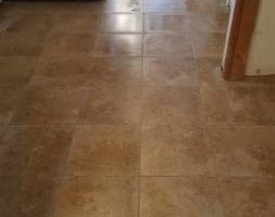 Custom tile and wood instalation - floor and walls