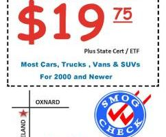 $19.75 SMOG CHECK STAR CERTIFIED