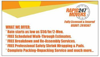 RAPID 24/7. RELIABLE AND EFFICIENT MOVERS
