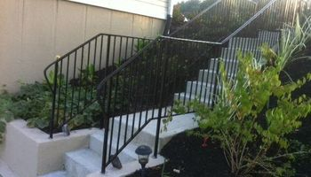 Wrought iron porch rails