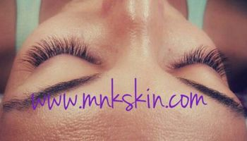 Eyelash extensions Only $75.. BOOK TODAY - MKN skin!