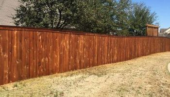 Rocking W Fence and Staining