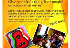 Ukelele & Guitar Classes or Private Lessons