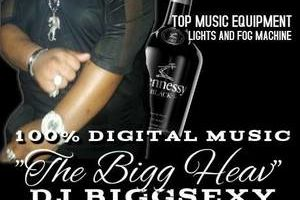 DJ BIGGSEXY ENTERTAINMENT. $150/4 HOURS SPECIAL!