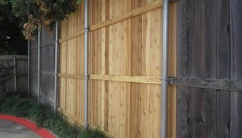 FENCE REPAIR (storm or high winds) -replace pickets and repair