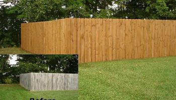 Fence Repair and Stain