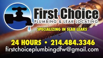 FIRST CHOICE PLUMBING AND LEAK LOCATING