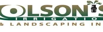 Olson's Irrigation & Landscaping. Licensed and insured!