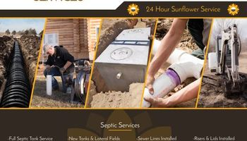 Sunflower Services - Septic & Plumbing Service With a Smile!