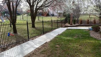 Gary Walker LLC. Wrought iron fence restoration