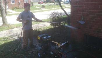 Pressure Washing - graffiti off brick, oil stains off driveway, decks