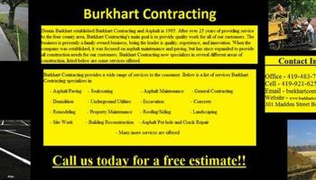 Burkhart Contracting. Seal Coating - Asphalt - Concrete - Demo - Site Work