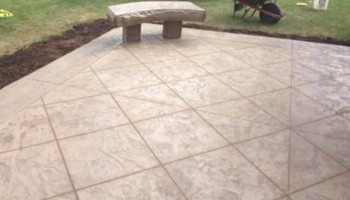 Flat concrete, and stamped concrete work