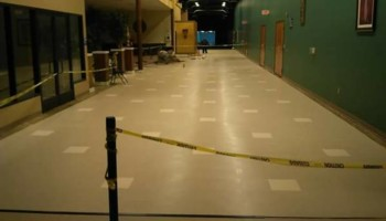 VCT tile and vinyl wood plank installation