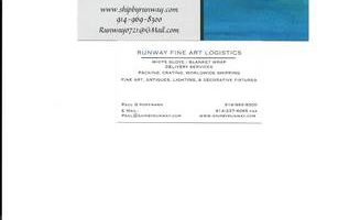 RUNWAY FINE ART LOGISTICS. Specialized Transportation Services