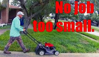 Insured lawn service. Easy online bill pay. Forget under-the-mat pay.