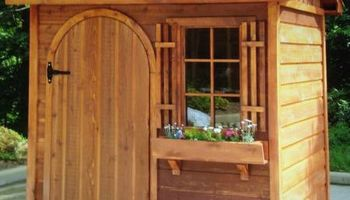 Jerry's Custom Shed's. Built to match house or any style you like