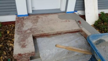 Concrete Stoop Refinishing - from $300 to $600 for big jobs