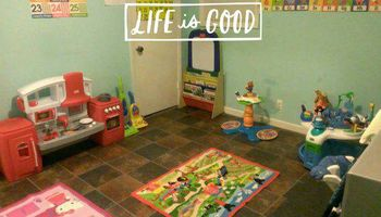 Licensed home daycare. Life is good!