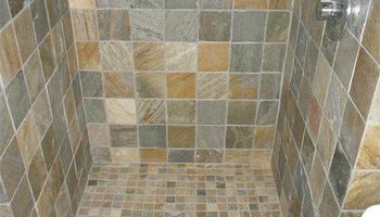 Tile installation by professional (Custom Bathroom)