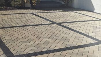 Paving stones. Roadway (pavement) restoration. Lining