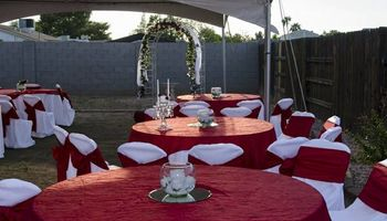 Wedding and Reception Package for your backyard venue