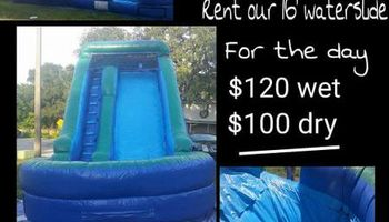 Inflatable slide rental cheap