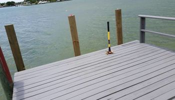 Professional deck/dock staining