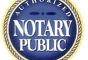 Notary public - paper notarized $10