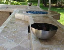 OUTDOOR KITCHENS. GRILL ISLANDS. FIREPLACES