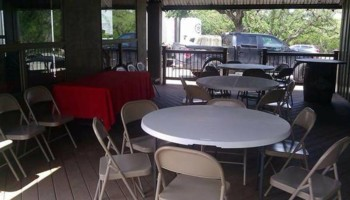 Tables & Chairs Rental/ Picnic table with Umbrella Shade