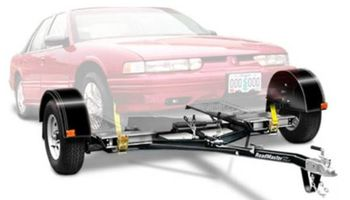 Car towing with dolly