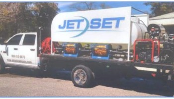 Pressure Washing by JETSET cleaning truck