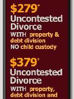 $249-$279-$379 UNCONTESTED DIVORCE