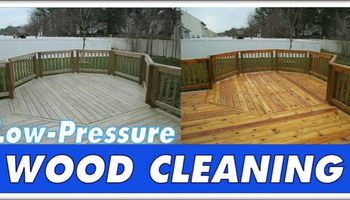 Low Pressure Fence & Deck Cleaning