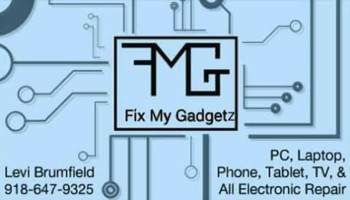 Need your electrics repaired?  TV, phone, tablet. Fix My Gadgetz
