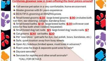 Pet Groomer with AMAZING PRICES!!!!!!