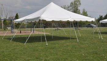 Rental tents , chairs , and tables , also bounce house