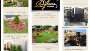 D. Flores Landscape. Gardening maintenace