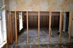 Flood demolition and restoration. Hang Sheetrock
