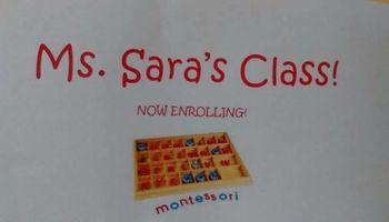 Ms Sara's Class. In-home Montessori preschool