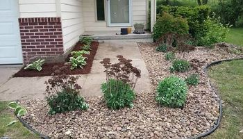 We do yard clean up and landscape install