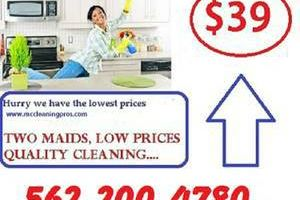 HOUSE CLEANING IN LONG BEACH, TWO MAIDS LOW PRICES.