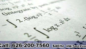 College Math Course Homework Exam Tutor - $40