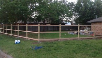 New fence as low as $8/ft post repair wooden $ 60 / $65 metal