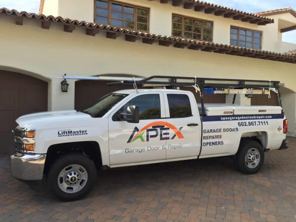 Apex garage door repairs valleywide 602 867 7111 for Garage door repair phoenix