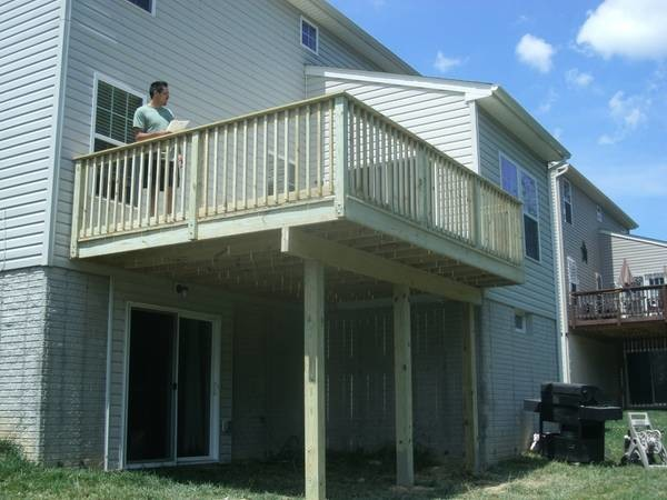 Porch And Deck Building And Repairs 12x12 Deck 2000 W
