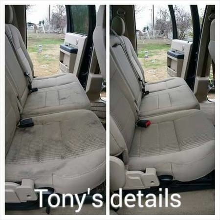 tony 39 s auto detailing mobile carpet and seats shampoo wax buff motor cleaning 661 859. Black Bedroom Furniture Sets. Home Design Ideas
